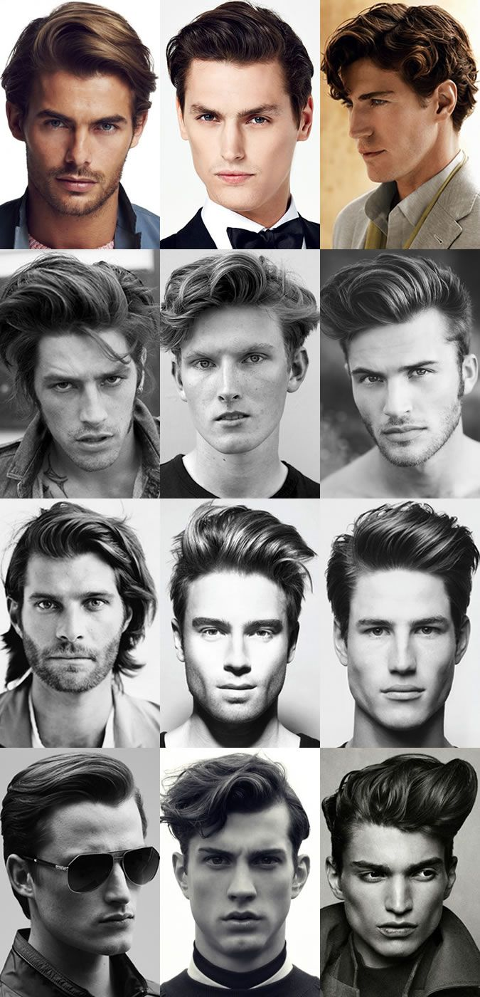 Men's Longer Length Quiff Hairstyles Lookbook (top right)