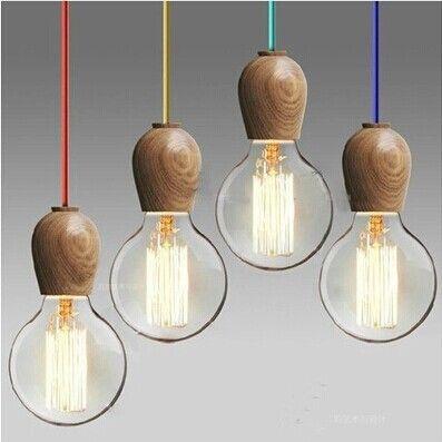 Oak Wood Hanging Lamp //Price: $17.99 & FREE Shipping //     #woodworking