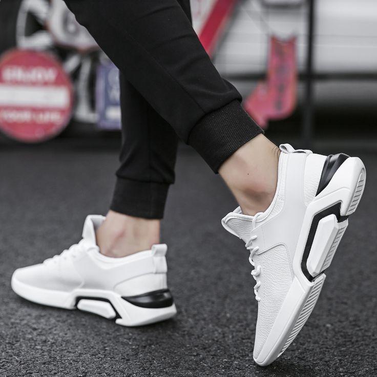 НОВИНИ НОВИЙ ПОДОБОВЖ МЕНЮ ВІДКРИТТЯ Взуття Біла шкіра PU спортивна кросівки  Легкий Відкритий Фітнес BOY Спортивне eb7f4172c7d6f