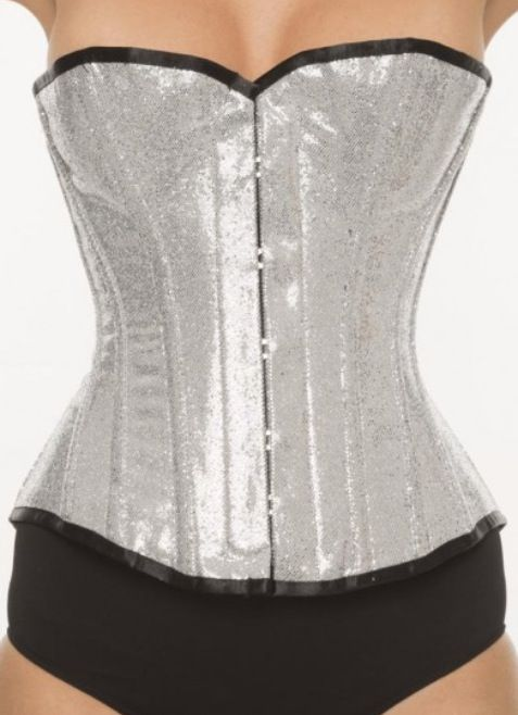 Vollers Corsets Eye Candy Corset in Silver Glitter http://www.vollers-corsets.com/eye-candy.html