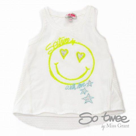 SO TWEE by #missgrant CANOTTA IN RETE CON SMILE. Collezione S/S14 saldi del 50%! #discount