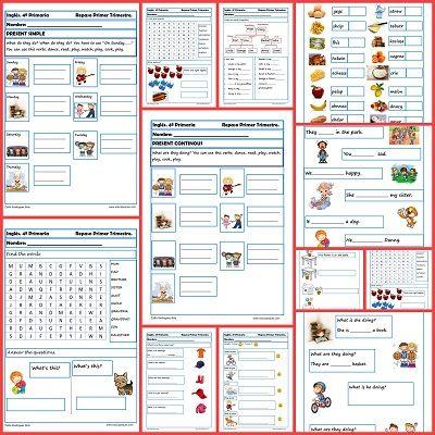 Fichas de inglés para cuarto de primaria