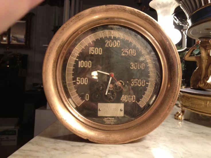 Igearz steampunk large brass pressure gauge clock - Steampunk pressure gauge ...