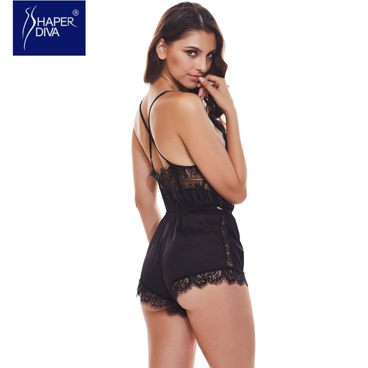 Women Lingerie Hot Erotic Sexy Teddy Lace Satin Lingerie Bodysuits Sexy Babydoll Intimate Sleepwear Lingerie  #Affiliate