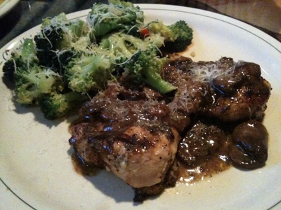 Carrabbas - Chicken Marsala   This is the very best you will ever taste !