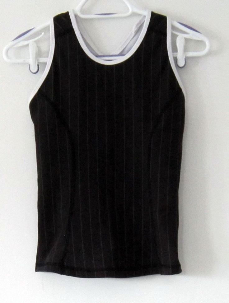 Lululemon pinstripe racerback yoga athletic built in bra tank top shirt #Lululemon #ShirtsTops