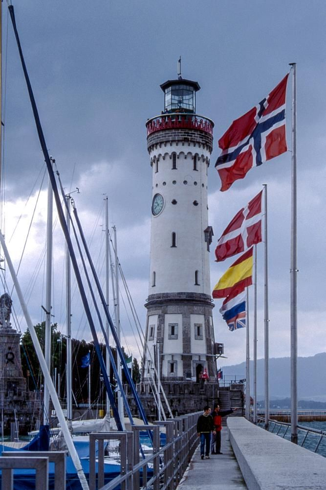 The Lighthouse - Lindau - Germany by Simona Coccodrilli
