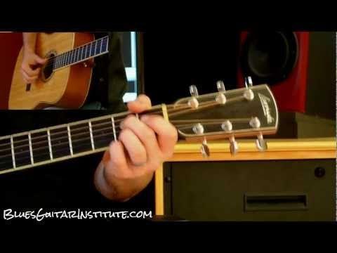 Lesson 007   E Major Fingerstyle Acoustic Blues - YouTube