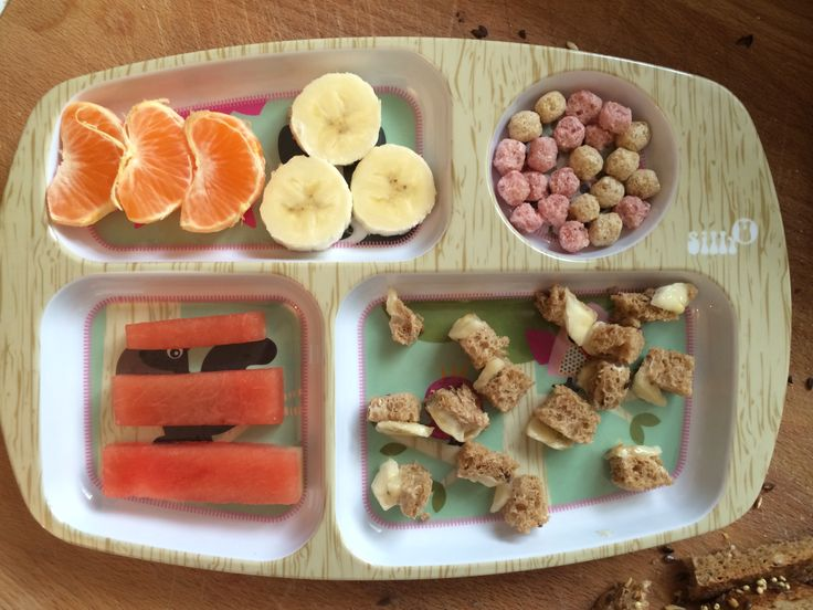 Healthy breakfast for my toddler , my son love this plate!