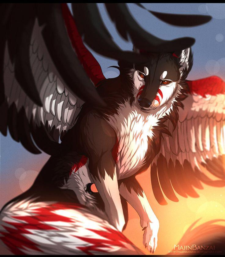 фото человека волка с крыльями маму