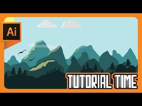 Tutorial Time : How to make Flat landscape Wallpaper (Adobe Illustrator) - YouTube