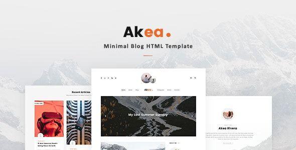 Akea Minimal Blog Html Template Stylelib In 2020 Wordpress Blog Wordpress Theme Responsive Wordpress