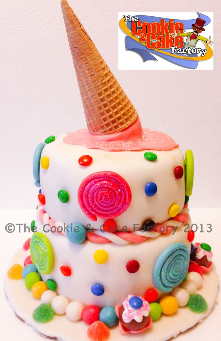 My version of The Royal Bakery candy cake!!! So fun! By The Cookie & Cake Factory