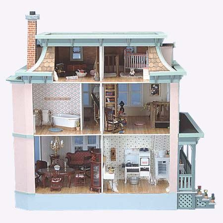 les 141 meilleures images du tableau dollhouse kit diy. Black Bedroom Furniture Sets. Home Design Ideas