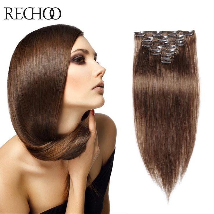 Elegante 100 Premium Remy Human Hair Clip In Women'S Hair