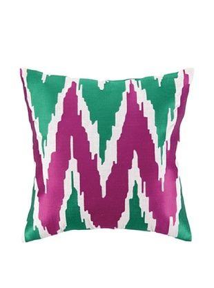 72% OFF Peking Handicraft Sarah Pillow, Pink/Green
