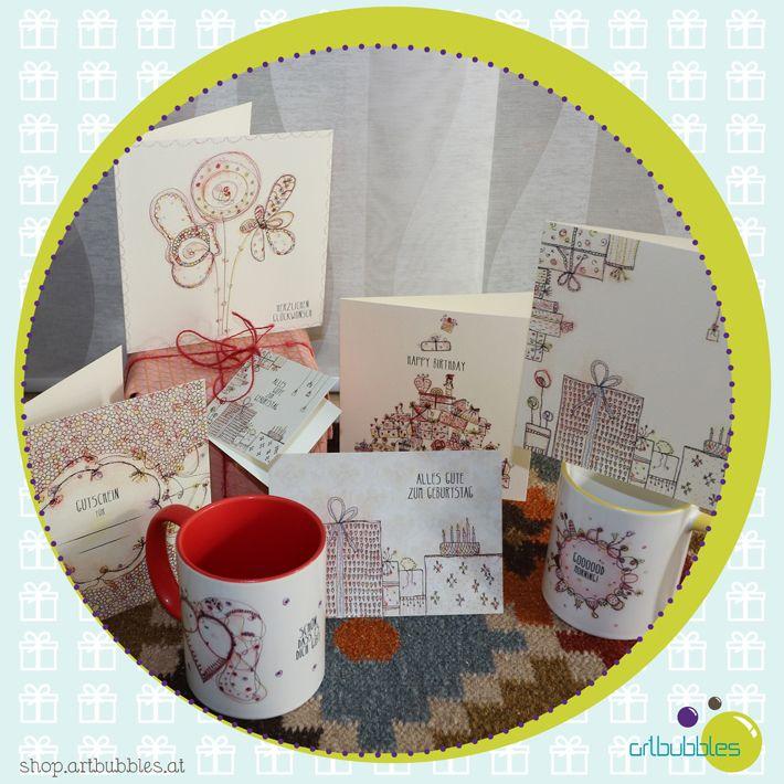Eine liebe Karte, einen Anhänger oder gar eine Tasse zum Geburtstag? Eine coole Auswahl findet ihr hier :-)