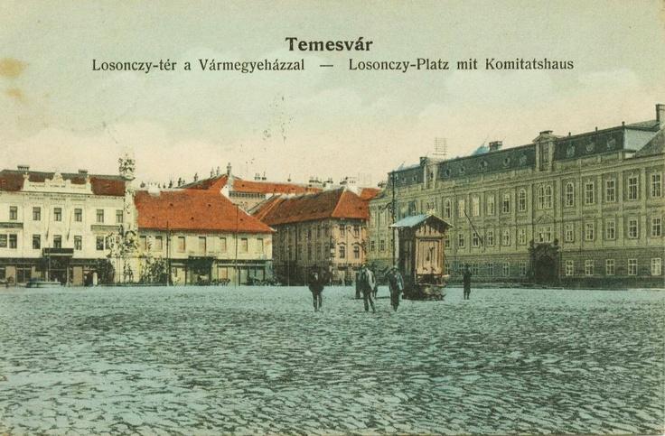 Timisoara - Piata Unirii- vechea fantana - Antebelica