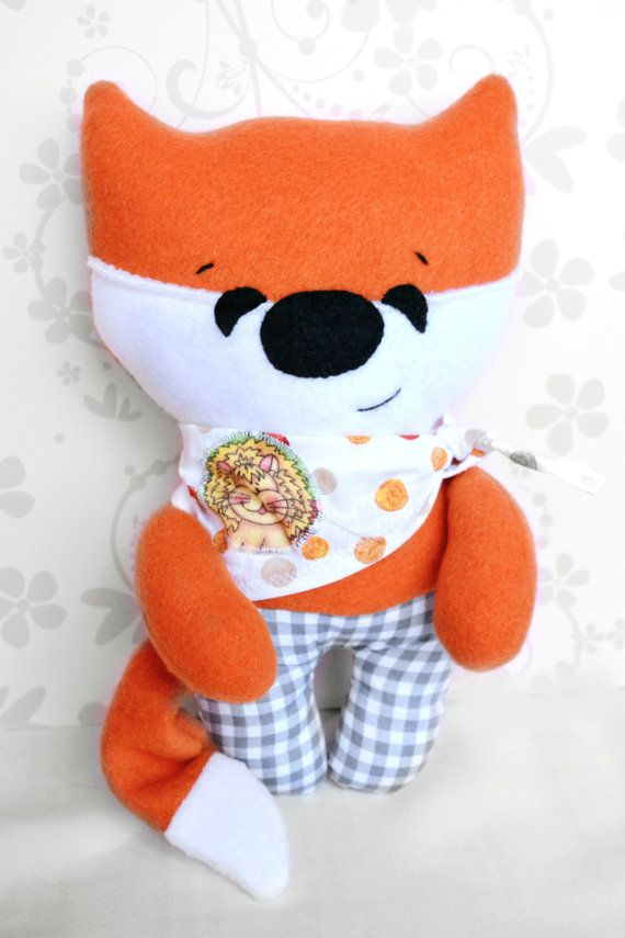 Fox Toy Toddler Gift Stuffed Fox Stuffed by Fairybugcreativetoys