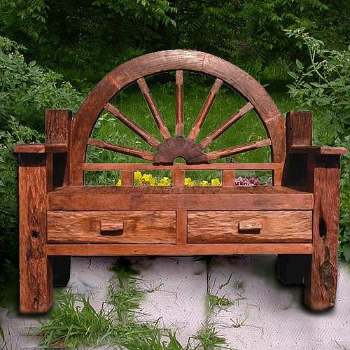 Garden Bench With The Two Hico Rocking Chairs Around A Fire Pit U003d Heaven