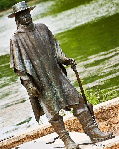 Stevie Ray Vaughan statue, Austin.