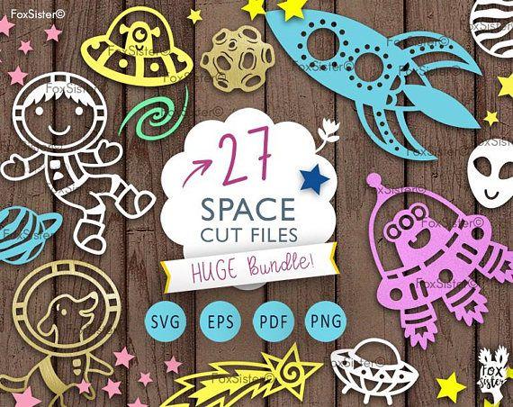 27 Space Templates SVG Bundle! Astronaut Svg, Rocket Svg