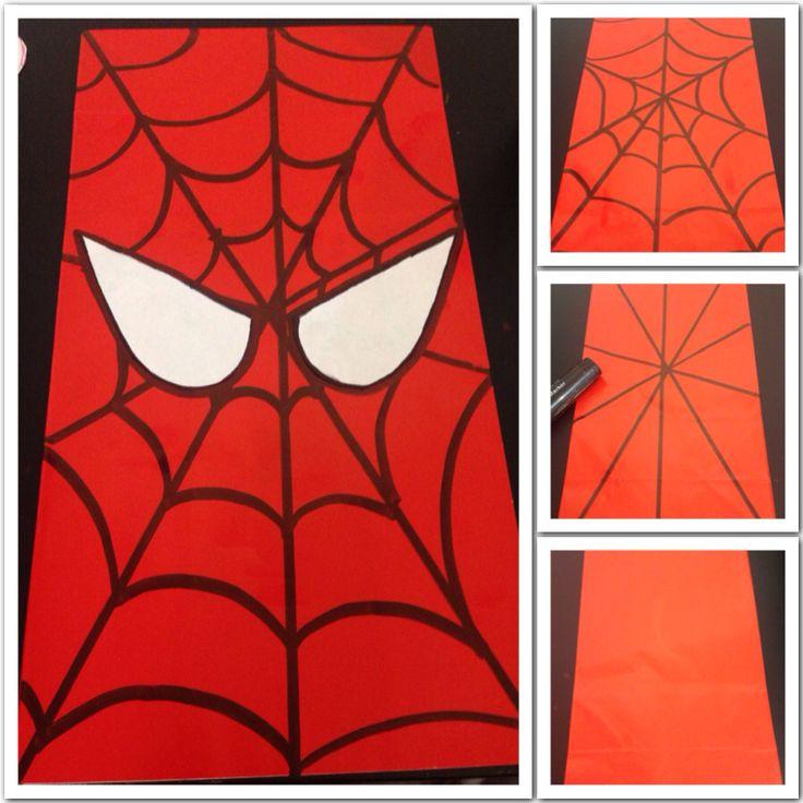 DIY SPIDERMAN PARTY BAGS