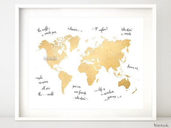 Enchanting world maps wall art picture collection wall art design world map printable a4 quotes gumiabroncs Images