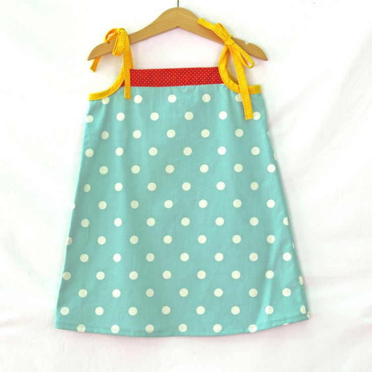 Girls dress, summer dress, girls fashion, beach dress, cotton dress, Everyday dress, polka dot dress, Party Dress, handmade, girls gift by CrafterMama on Etsy