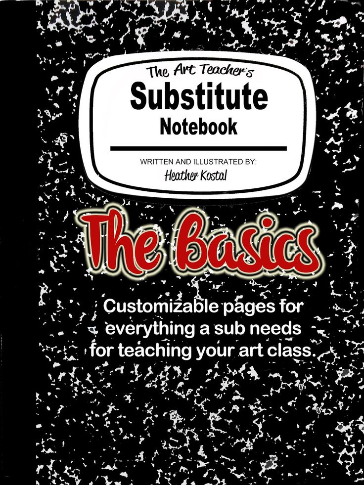 The Art Teacher's Substitute Notebook: The Basics is designed to set the stage for your sub and ease them into the routines and unique atmosphere of the art room. This notebook is designed for all art teachers. The pages are customizable .pdfs that you can fill-in, print and have available in your class at all times. Please note that this download does not include any lesson plans.