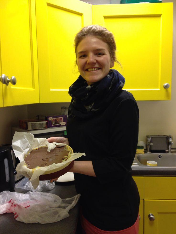 The very first bakeoff cake. Raising money for Helen's trust. #bakeoff #helenstrust