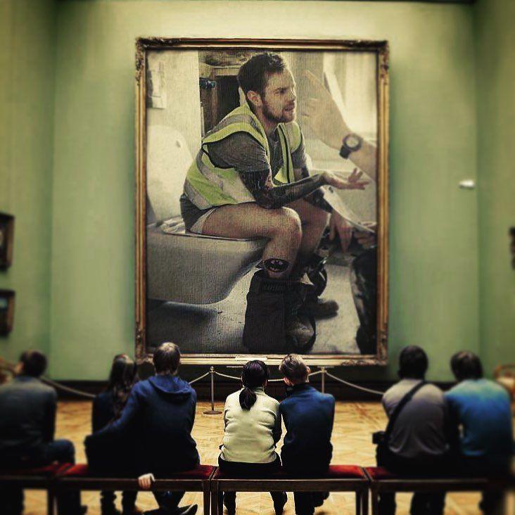 Toilet humour  .. Had to post it!... ... ... ... ... ... ... ... #saturday #weekend #funny #toilethumour #photography #filter #photolab #justforfun #tattoo #sleevetattoo #ink #batman #batmantattoo #featureme #construction #ireland #picoftheday #tattsandbeards #inkedup