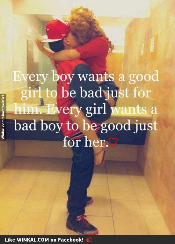 bad boy, good girl