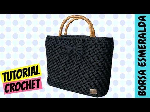 "Tutorial borsa uncinetto ""Esmeralda"" | Punto spiga | Make crochet a bag || Katy…"