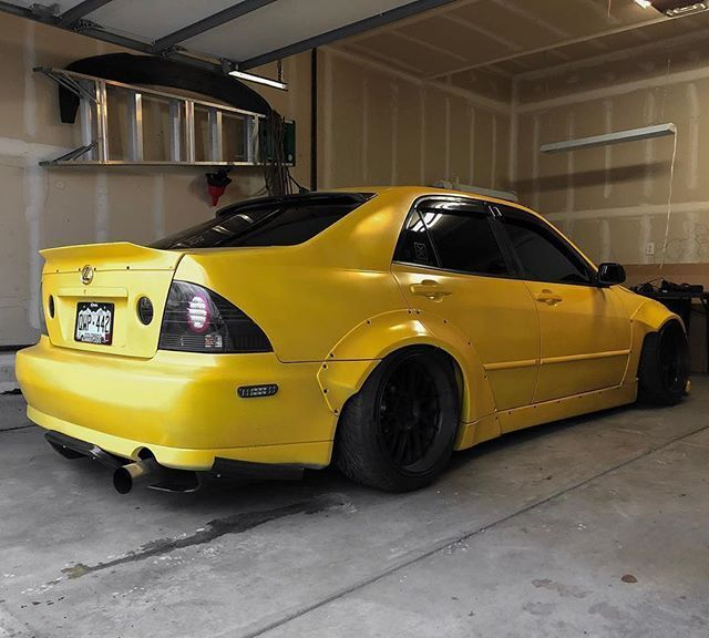 Lexus Is 300 With Our Full Bodykit This Kit Includes Front Lip Sideskirts Front And Rear Fender Flares Repost Yellowis300 Its Lexus Is300 Lexus Body Kit