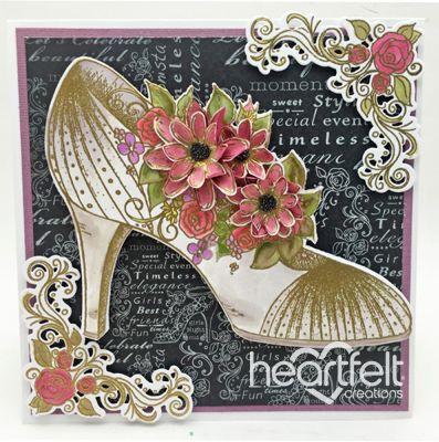 Heartfelt Creations | Glamorous White Blooming Shoe