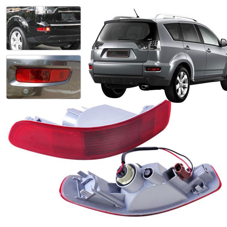 Sale Dwcx 1Pair Rear Bumper Right Left Tail Fog Light Lamp Reflector 8352A005 8355A004 For Mitsubishi #Rear #Bumper
