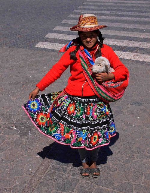 Peruvian girl in traditional clothing by nathan.haislip, via Flickr