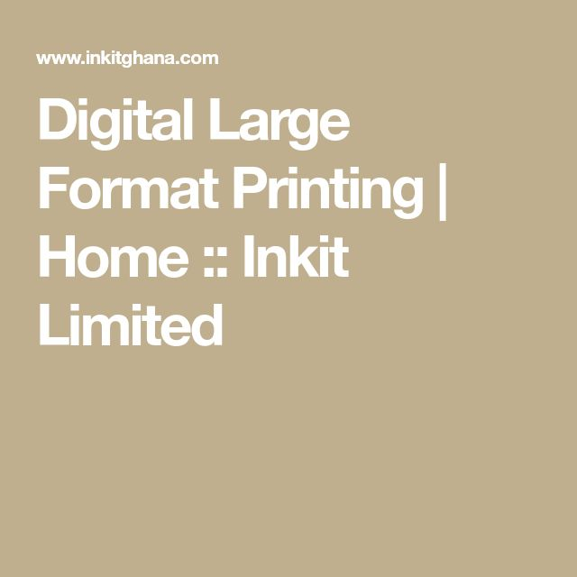Digital Large Format Printing | Home :: Inkit Limited