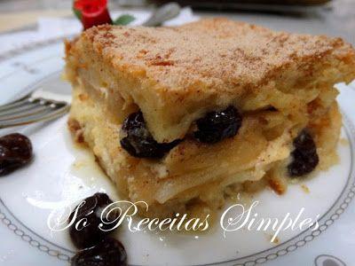 Só Receitas Simples: Torta de Maçã no Pão de Forma: com Passo a Passo