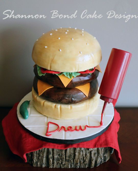 Double Cheeseburger Cake