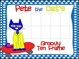 Free Pete the Cat and his Groovy Buttons 10 frame, 5 frame, and double ten frame! Enjoy!: Cat Freebies, Kindergarten Math, Ten Frames, Monkey Business, Miner S Kindergarten, Kindergarten Monkey, Pete The Cats, Common Core, 10 Frame