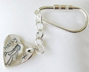 Key Ring. There is nothing quite as beautiful as a silver charm featuring your loved ones little doodle. Why not carry it everywhere on a pretty little key ring?