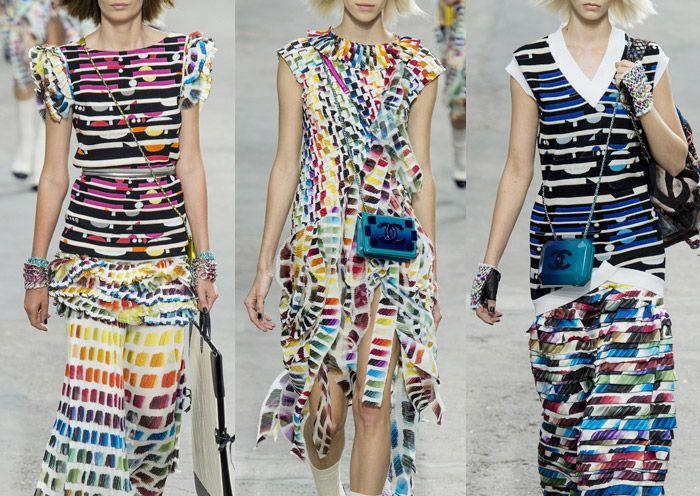Chanel - Paris Fashion Week - Spring/Summer 2014 -   Print Highlights Part 3