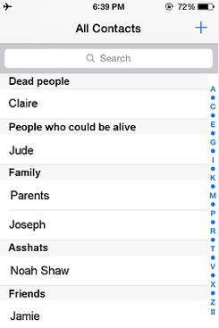 Mara Dyer's phone and it's asscrown not asshat