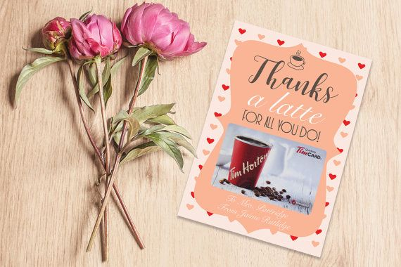 Thanks a latte printable  Valentines Card by IspiratoPrintables