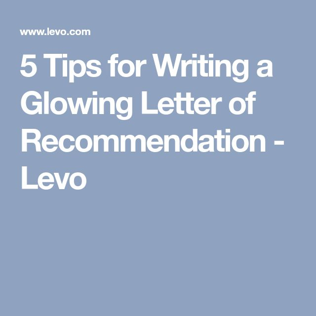 The  Best Writing Letter Of Recommendation Ideas On