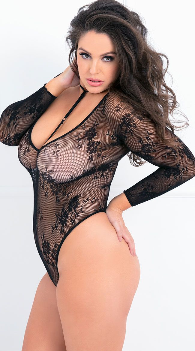 Plus Size Hot Bodies Choker Bodysuit  e1ea7e90c