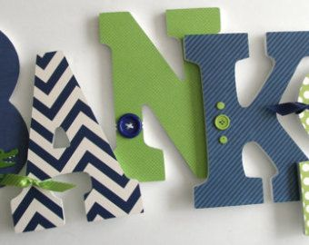 Custom Wooden Letters for Nursery Construction by LetterLuxe