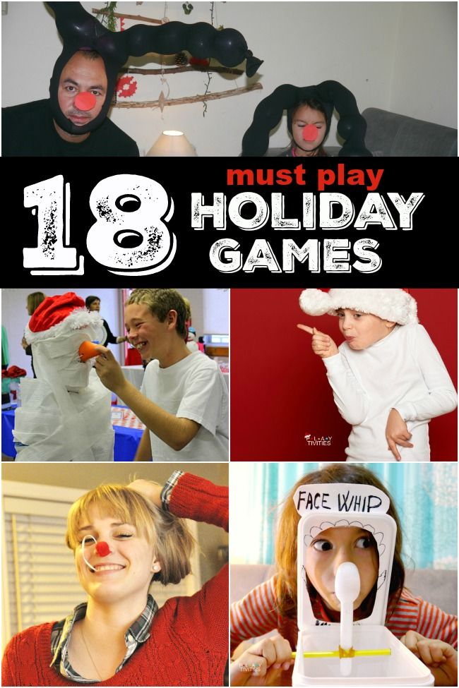 18 Christmas Games For Families to have the best time ever. All these Christmas games are hilarious and don't require much preparation. FUN GUARANTEED!